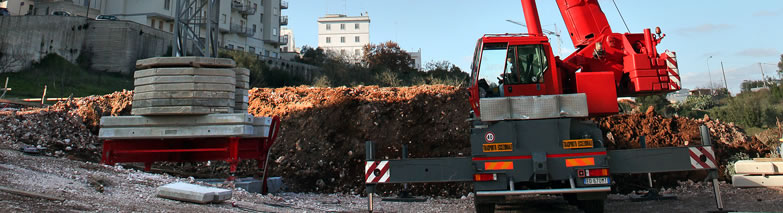 Autogru in Puglia e Basilicata (Sud Italia)
